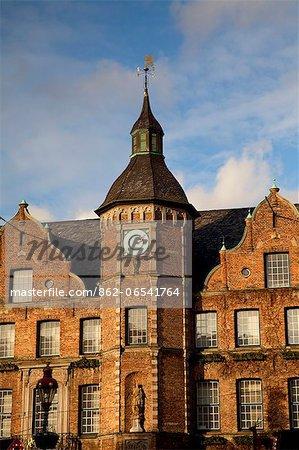 Dusseldorf, North Rhine Westphalia, Germany, Town hall architectural detail