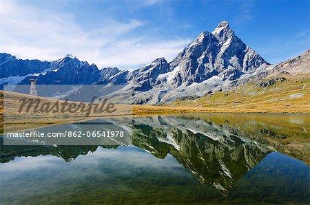 Europe, Italy, Aosta Valley, Monte Cervino , The Matterhorn, Breuil Cervinia