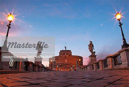 Rome, Lazio, Italy, The bridge leading to Castel Sant Angelo