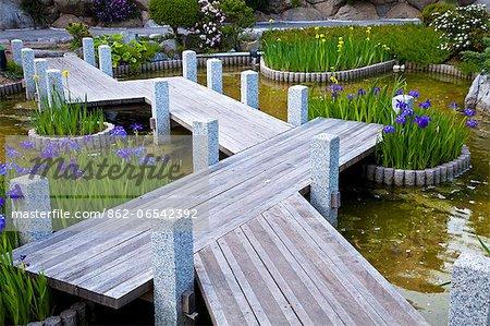 Japanese Gardens in Larvotto, Principality of Monaco, Europe