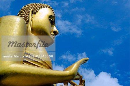 Sri Lanka, North Central Province, Dambulla, Golden Temple and Golden Temple Buddhist Museum, UNESCO World Heritage Site, giant buddha statue