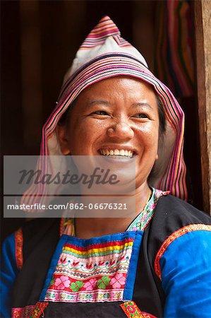 China, Yunnan, Xishuangbanna. A lady of the Jinuo ethnic minority near Jinghong.