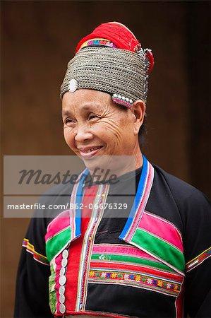 China, Yunnan, Xishuangbanna. A lady of the Huayao Dai ethnic minority near Jinghong.