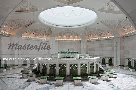 The ablution room of the Sheikh Zayed bin Sultan Al Nahjan Mosque, Al Jami al Kabir,Abu Dhabi, United Arab Emirates