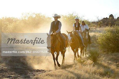 Apache Indians and Cowboys, Apache Spirit Ranch, Tombstone, Arizona, USA