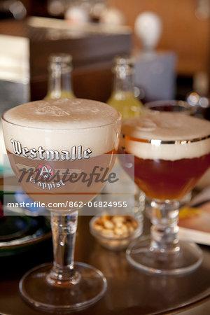 Leuven, Belgium. Traditional Belgian beer.