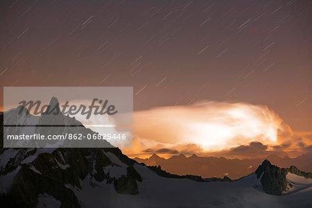 Europe, France, Haute Savoie, Rhone Alps, Chamonix Valley, electrical storm
