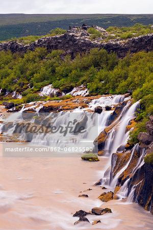 Iceland, Hraunfossar waterfall