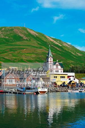 Iceland, northern region, Husavik harbour