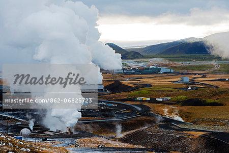Europe, Iceland, South Iceland, Hellisheidi geothermal area