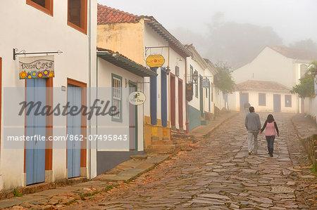 Colonial town of Tiradentes, Minas Gerais, Brazil, South America