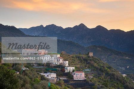 Italy, Campagnia, Amalfi Coast, Ravello. Views from the town of Ravello.