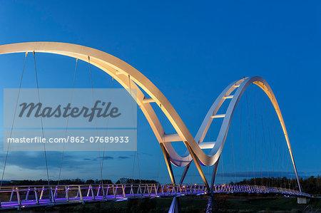 Europe, United Kingdom, England, Stock On Tees, Infinity Bridge