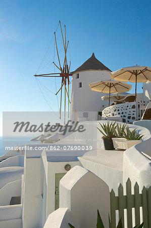 Windmill in Oia, Santorini, Cyclades, Greece