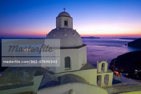 Church in Thira, Santorini, Cyclades, Greece