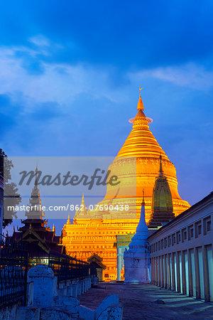 South East Asia, Myanmar, Bagan, Shwezigon Paya