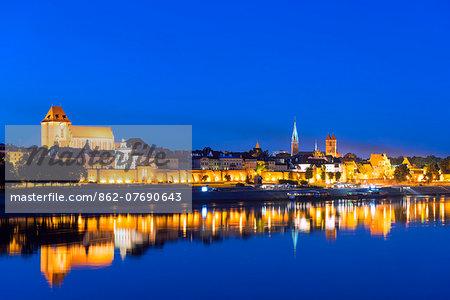 Europe, Poland, Gdansk and Pomerania, Torun, Unesco Medieval Old Town, Vistula River