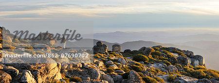 The top of the highest mountain range in Continental Portugal. Serra da Estrela Nature Park (MR)
