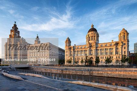 Europe, United Kingom, England, Lancashire, Liverpool, The Three Graces