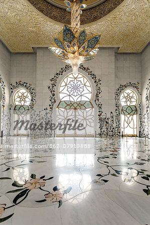 United Arab Emirates, Abu Dhabi. Sheikh Zayed Grand Mosque