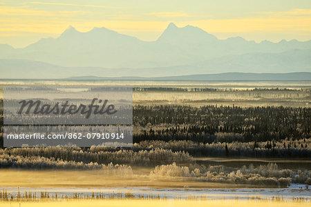 Alaska Range near Fairbanks,Alaska,USA