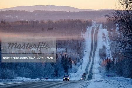 Chena Hot Springs road, Fairbanks, Alaska, USA