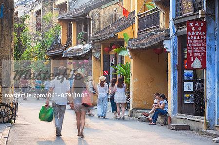 Street scene, Hoi An (UNESCO World Heritage Site), Quang Ham, Vietnam