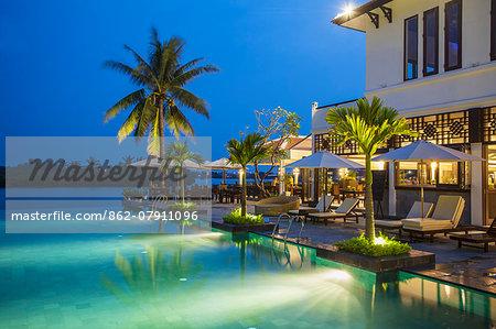 Swimming pool at Hoi An Beach Resort, Cua Dai beach, Hoi An, Quang Ham, Vietnam