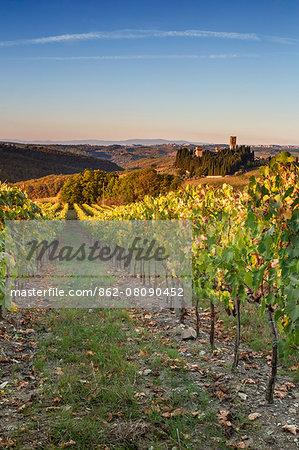 Italy, Italia. Tuscany, Toscana. Firenze district. Chianti. Tavarnelle Val di Pesa. Badia a Passignano