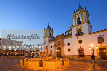 Cathedral, Plaza del Socorro, Ronda, Costa del Sol, Andalusia, Spain