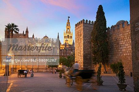 Real Alcazar, Bario Santa Cruz, Seville, Andalusia, Spain