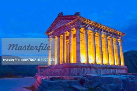 Eurasia, Caucasus region, Armenia, Kotayk province, Garni, first century pagan Garni Temple, Unesco World Heritage Site