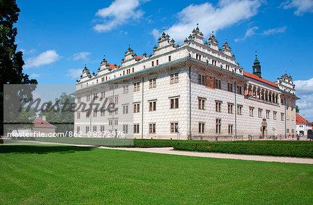Czech Republic, Litomysl.The Litomysl Castle a Renaissance arcade castle with High Baroque additions. UNESCO.