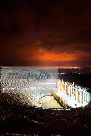 Turkey, Western Anatolia, Pamukkale, UNESCO site,  Hierapolis