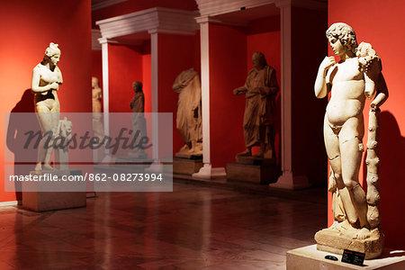 Turkey, Mediterranean Region, Turquoise Coast, Pamphylia, Antalya, Archeological Museum, statue of Harpocrates
