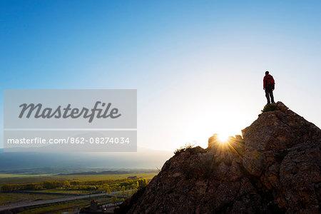 Turkey, Eastern Anatolia, Dogubayazit, Mt Ararat (5137m), sunrise