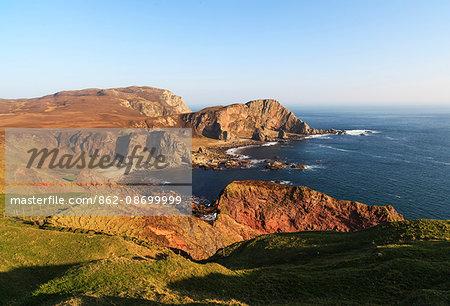 Scotland, Argyll and Bute, Isle of Islay. Dramatic coast of the Oa Peninsula at the south of Islay.
