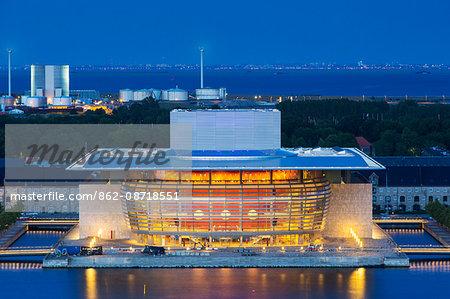 Denmark, Hillerod, Copenhagen. The Royal Opera House.