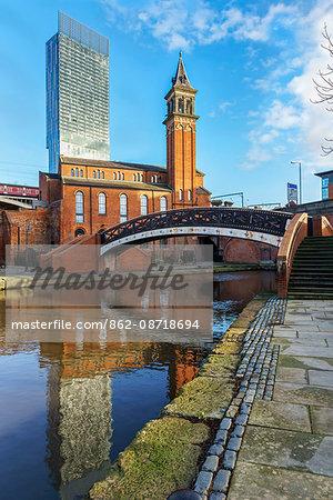 Europe, United Kingdom, England, Lancashire, Manchester, Castlefield Canal Basin