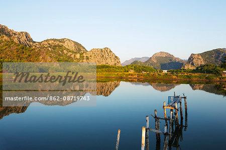 South East Asia, Thailand, Prachuap Kiri Khan, Khao Sam Roi Yot National Park wetlands