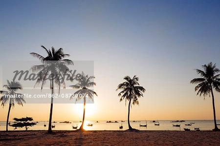 South East Asia, Vietnam, Phu Quoc island, sunset at Long Beach