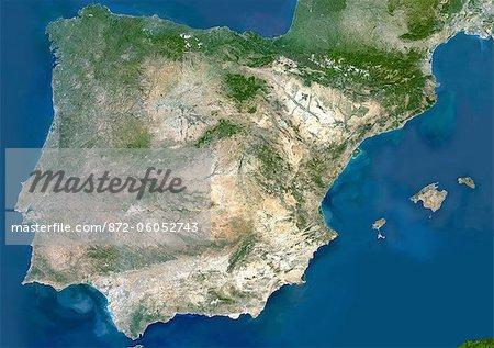 Satellite Map Of Spain.872 06052743