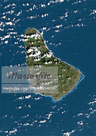 Barbados, True Colour Satellite Image. Barbados, true colour satellite image taken on 1 February 2002, by the LANDSAT 7 satellite.