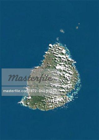 Mauritius, True Colour Satellite Image
