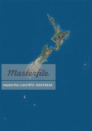 New Zealand, True Colour Satellite Image