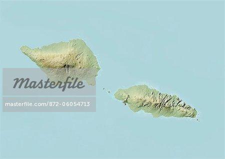 Samoa, Relief Map