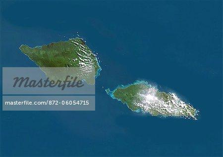 Samoa, True Colour Satellite Image