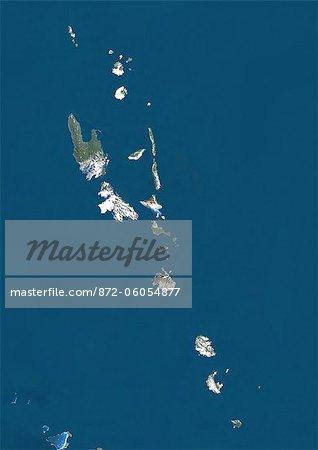 Vanuatu, True Colour Satellite Image