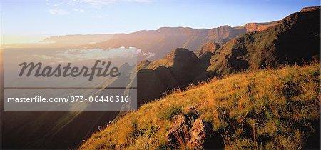 Mountain Range Cathedral Peak, Drakensberg Kwazulu Natal, South Africa