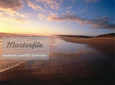 Sunset over Beach Sedgefield, Buffels Bay South Africa